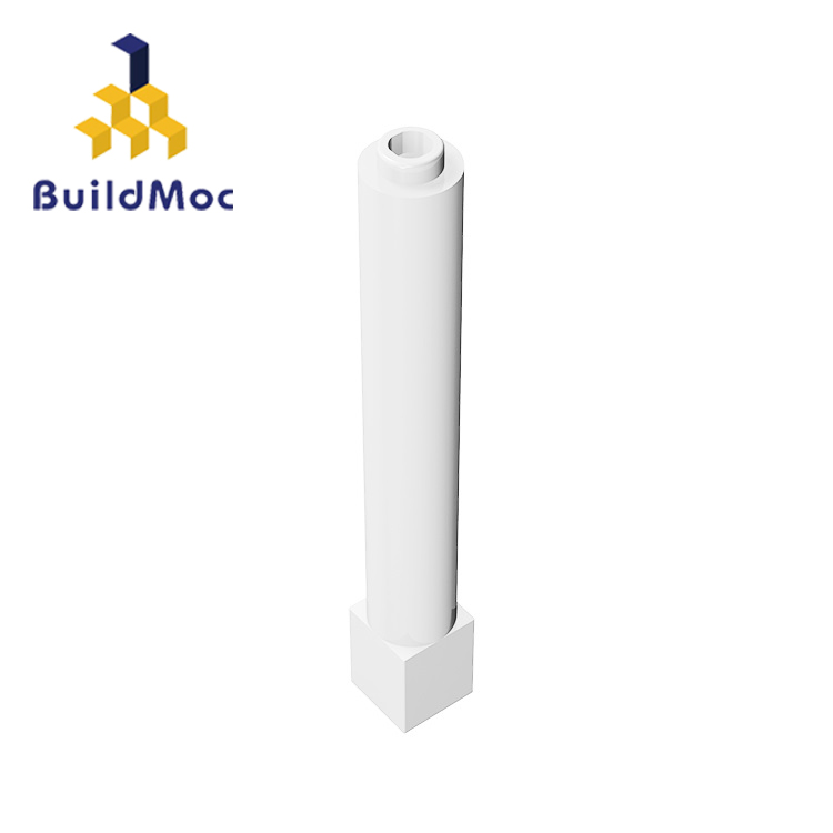BuildMOC 43888 Compatible With 1x1x6 Solid Pillar Thick For Building Blocks Parts DIY LOGO Educational Creative Gift Toys