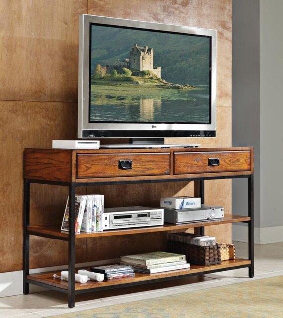 American Retro Tv Cabinets Tables Wrought Iron Wood Computer Desk Shelf Storage Racks Landing