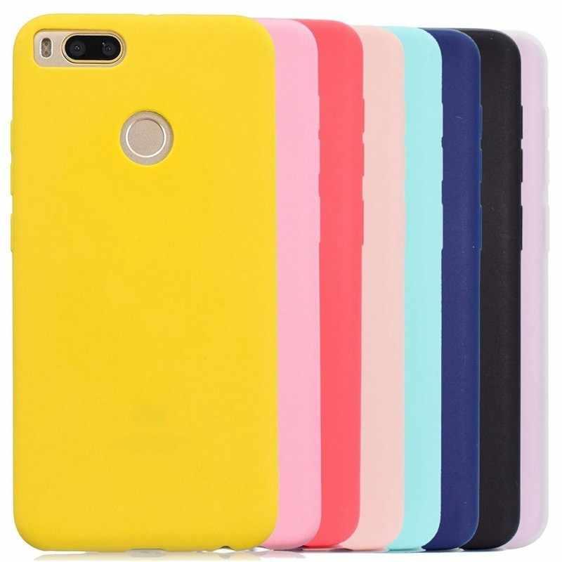 Multicolor silikonowy futerał na telefon etui na Xiaomi A1 A2 5X 6X Redmi Note 4 4X 5A 5 Note5 Pro S2 Pocophone F1 miękki TPU powrót skrzynki