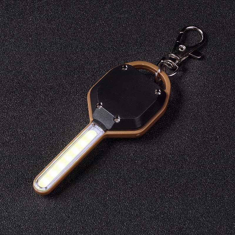 Newest Mini LED Flashlight Light Mini Key Shape Keychain Lamp Torch Emergency Camping Light