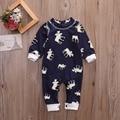 baby romper deer cartoon long sleeve jumpsuit for boy girl baby clothes 2017 autumn cute reindeer newborn rompers christmas gift