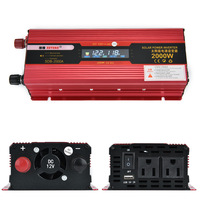 Portable Inverter AC 220/110V 2000W Car Power Inverter Converter 12V to 220v Universal Socket Power Inverter Transformer