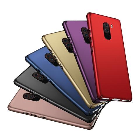 For Xiaomi Pocophone F1 Case Hard Plastic Luxury Back Covers Cases for Xiaomi Pocophone F1 Poco F1 Coque Shockproof Phone Bumper Multan
