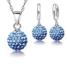 Crystal Pendant Dangle Earrings Set