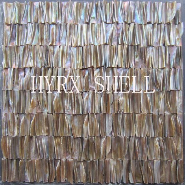 Großhandel 3D Perlmutt Fliesen Schale Mosaiken Versteift Backsplash Fliesen  Küche Badezimmer Wand Designs Ideen Kamin Fliesen
