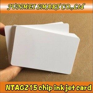 Image 1 - קניות חינם 100 pcs/500 pcs 13.56 Mhz הזרקת דיו להדפסה PVC IC כרטיס nfc 215 כרטיס עבור Tagmo עבור espon מדפסת, canon מדפסת