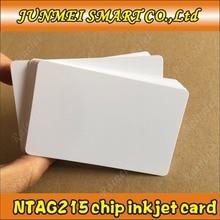 Free shopping 100pcs/500pcs 13.56Mhz Inkjet Printable PVC IC card nfc 215 card for Tagmo for Espon printer, Canon printer