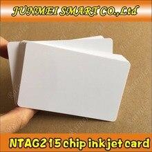 Gratis winkelen 100 pcs/500 pcs 13.56 Mhz Inkjet Printable PVC IC card nfc 215 kaart voor Tagmo voor espon printer, canon printer