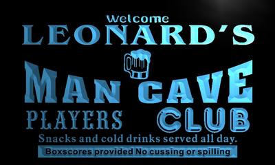 x0106-tm Leonards Man Cave Dugout Custom Personalized Name Neon Sign Wholesale Dropshipping On/Off Switch 7 Colors DHL