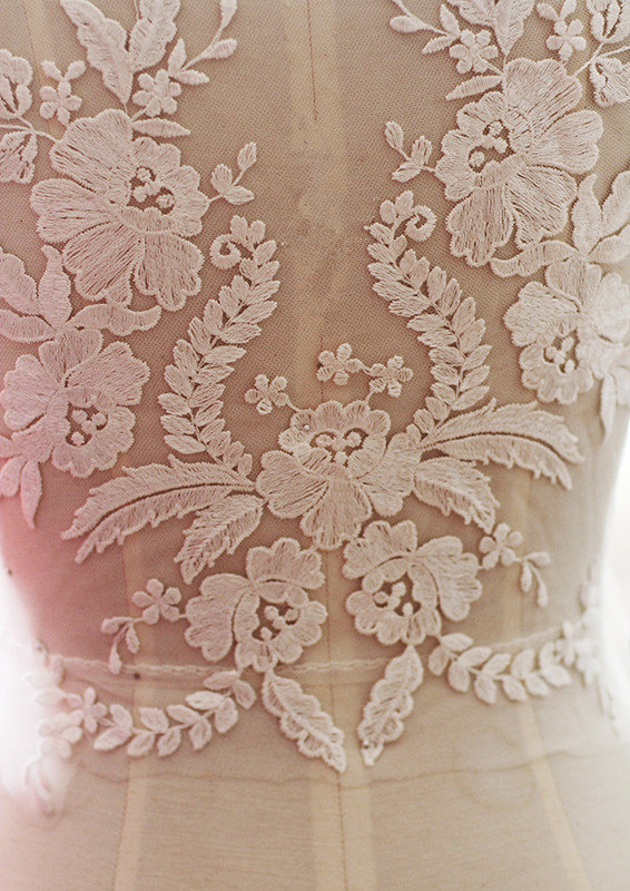 10 pieces French Lace Fabric Black Ivory White Embroidered Bodice Lace Applique High end Wedding