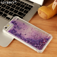 LUCKBUY Luxury Liquid Glitter Sand Star Mobile Phone Cases For iPhone 6 6s 5SE 7 8 Plus X Case Heart Dynamic Plastic Back Fundas
