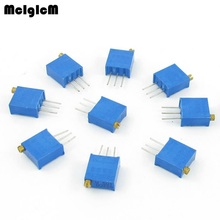 MCIGICM 1000pcs 3296W  100 200 500 ohm 1K 2K 5K 10K 20K 50K 100K 200K 500K 1M ohm Trimpot Trimmer Potentiometer original new 100% 068306 500k aud import single potentiometer 500k handle long 16mm round shaft switch