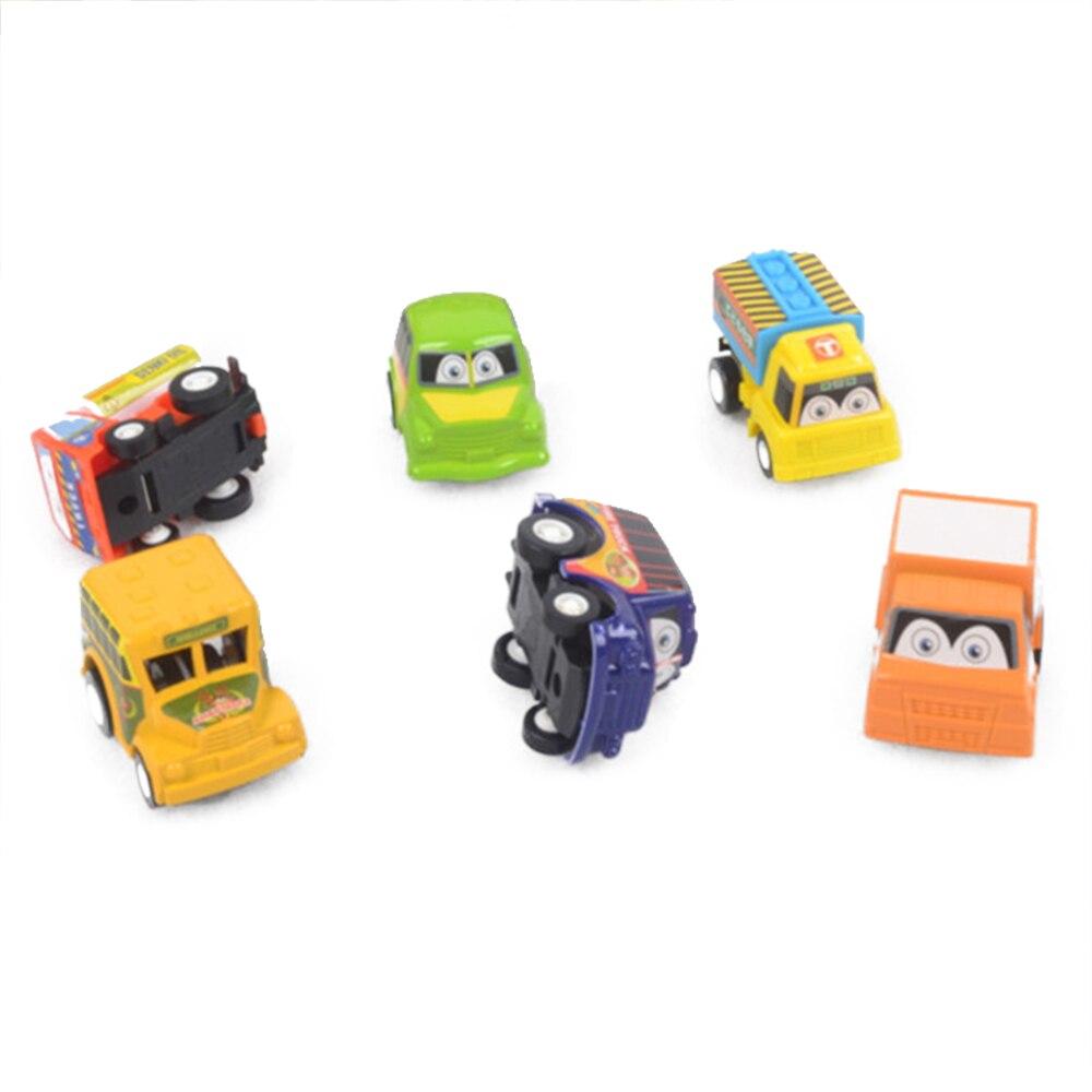 6 Stücke Lustige Mini Trägheit Autos Cartoon Kinder Fahrzeug Auto Spielzeug Kind Bildung Spielzeug Geschenk Gießt Druck & Spielzeug Fahrzeuge Für Kinder