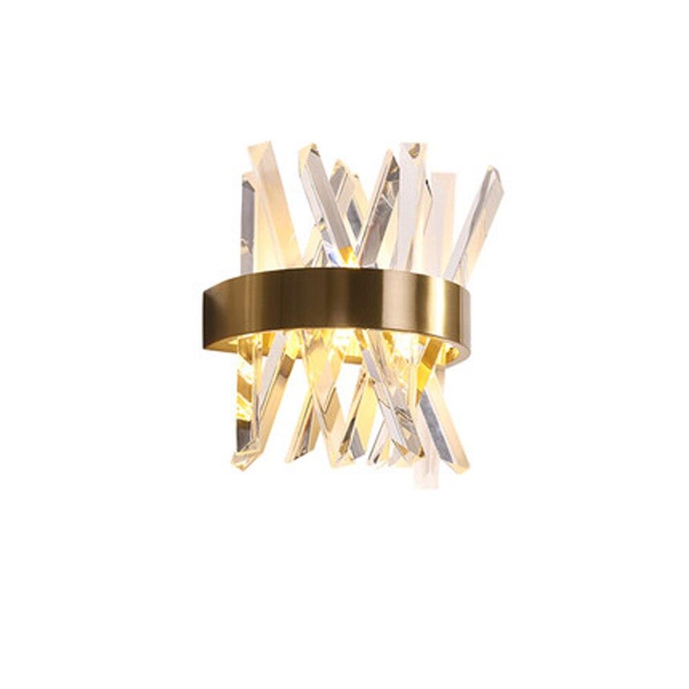 Design de luxe en cristal lampe de mur moderne LED appliques murales Dia25 * H33cm lustre salon chambre lumière