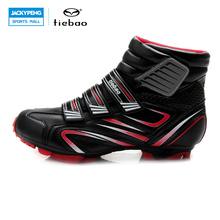 Tiebao profesional bycling zapatillas hombres mujeres mtb mountain bike racing zapatos atléticos autoblocante botines a prueba de viento
