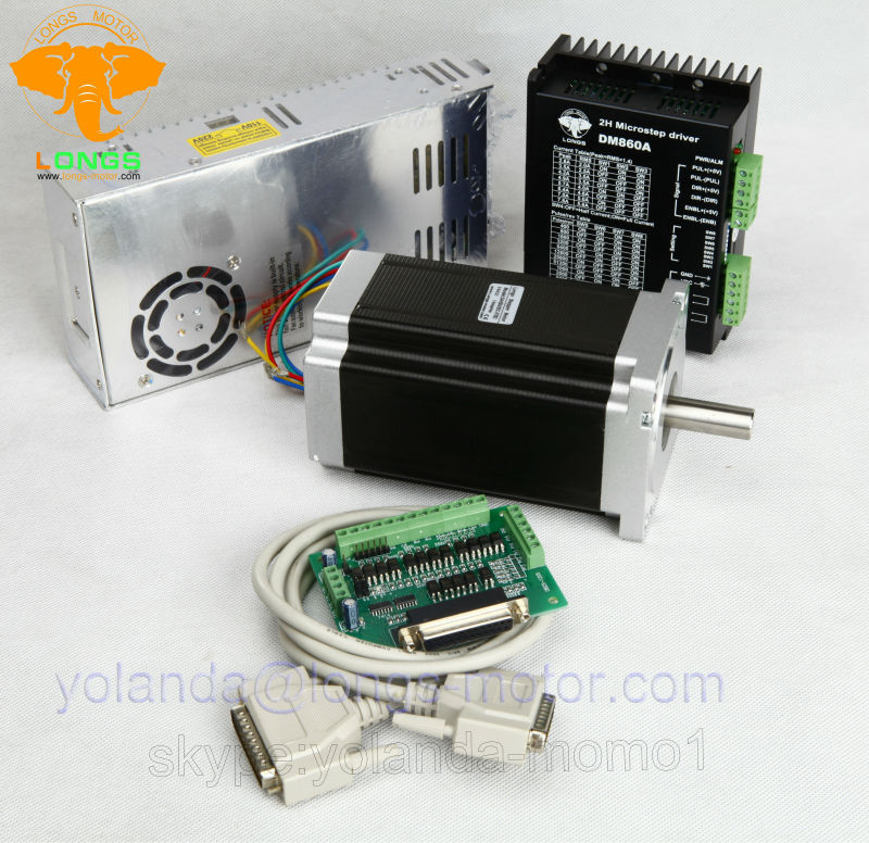 Stepper Motor 1Axis Nema 34 1600oz in 151mm 3 5A 34HS5435C 37B2 DM860A driver CNC Router