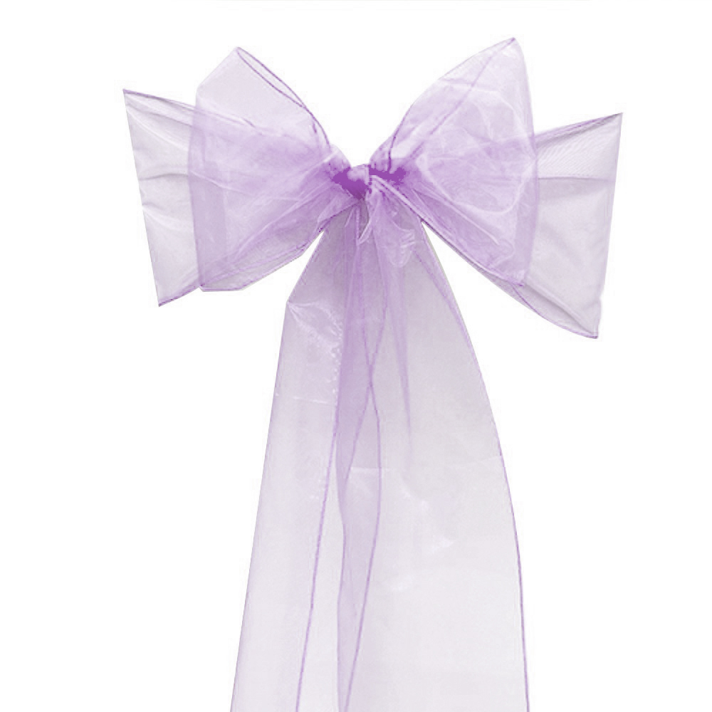 Wonderful 90 Pcs Wedding Lavender Organza Chair Cover Sashes Sash Party Banquet And  Wedding And Events Supplies Party Decoration In Sashes From Home U0026 Garden  On ...