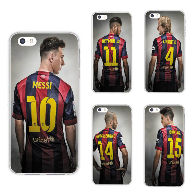 6c2fe7089 Silicone Spain Barcelona Football Jersey Messi For IPhone 5 5S SE 6 6S Plus  7 7plus Case soft slim Tpu Silica Phone Shell Cover