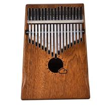 17 Key Kalimba Mbira Calimba African solid Mahogany Thumb Piano Finger with Bag Keyboard Marimba Wood Musical Instrument
