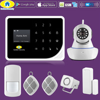 Golden Security S5 WIFI GSM Alarm Systems Security Home 720P IP Camera APP Control High Sensitivity