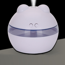 Double button with night light humidifier USB spherical humidifier