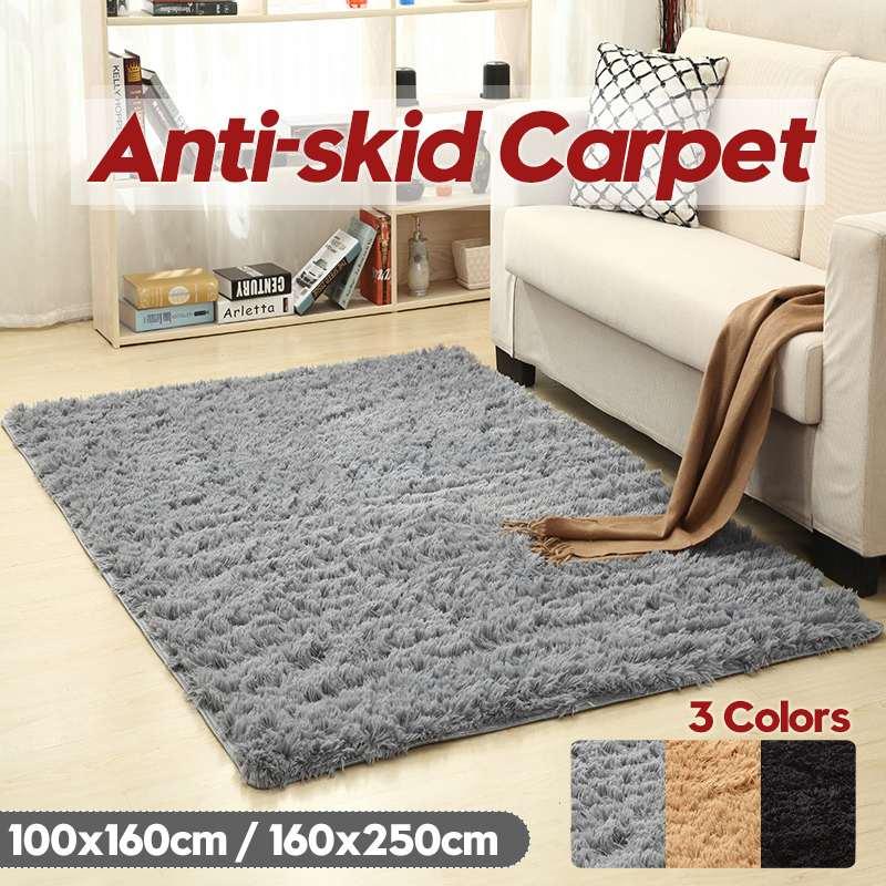 100x160 cm/160x250 cm tapis pour salon maison chaude en peluche tapis de sol tapis moelleux enfants chambre fausse fourrure tapis de salon