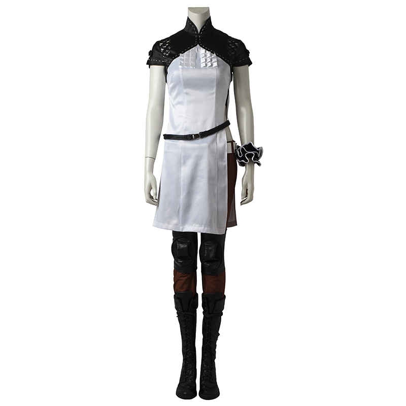 NieR Automata Devola Cosplay Costume White Dress Fancy Outfit Hot Game Custom Made Halloween Party Costume For Women Adult