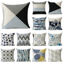WZH Cute Texture Cushion Cover 45x45cm Linen Decorative Pillow Cover Sofa Bed Pillow Case(China)