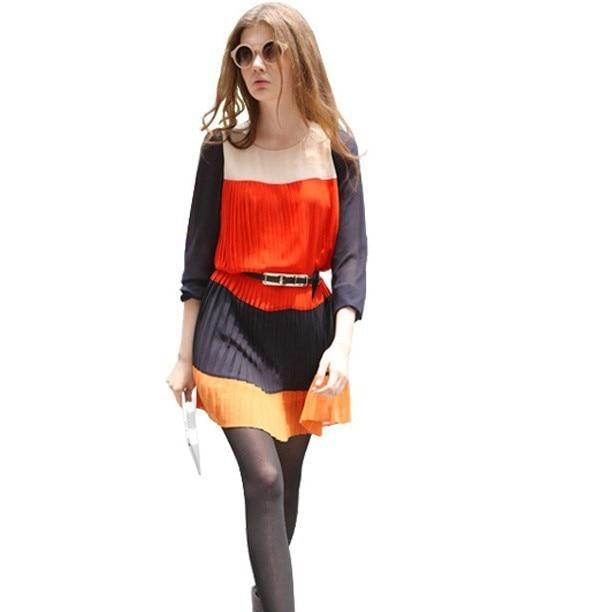 Free shipping,2013 new arrivel,summer dress, Euro chiffon dress,fashion women dress