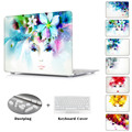 Fashion Gift For Girls Crystal Clear Print Flower Lace Laptop Case For Apple MacBook Pro 13 15 Retina Air 11 13 + Keyboard Cover