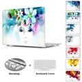 Presente da moda Para Meninas Crystal Clear Flor Impressão Rendas Caso Do Portátil Para apple macbook pro 13 15 retina air 11 13 + tampa do teclado
