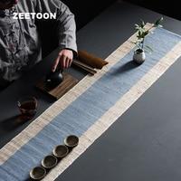 47 Inch Zen Burlap Table Runner Tea Curtains Cover Tea Mats Kung Fu Tea Set Accessorie Vintage Home Ornament Coffee Tablecloth