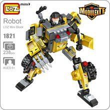 LOZ ideas Robot Car Transformation Truck Toys Excavator Scorpion 3in1 Modulextf Building Blocks Technic Mini Blocks Diy Toy 1821
