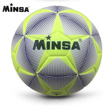 New Brand MINSA High Quality Size 5 PU Soccer Ball Football Ball for Match Training Balls futbol voetbal bola(China)