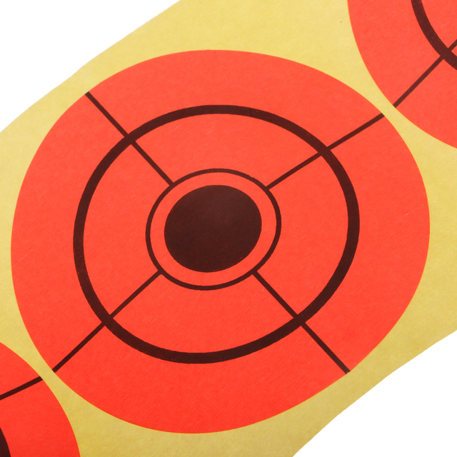 250 pièces tir cible auto-adhésif 3 pouces papier cible autocollant Fluorescent Orange pour la formation