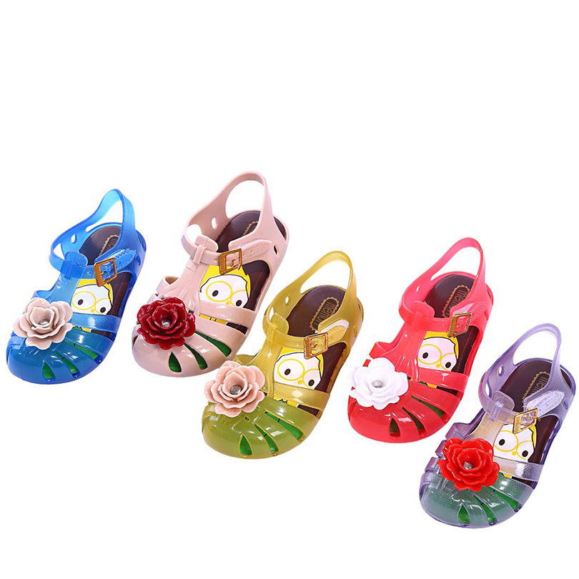 Melissa childrens shoes Rose Melissa jelly childrens sandals breathable and soft 6 colors