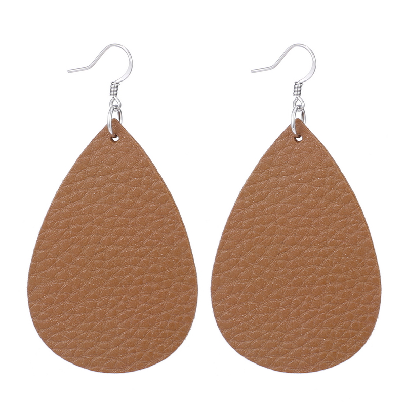 New Teardrop Leather Earrings Petal Drop Earrings Antique Lightweight S925 Carved Stainless Steel Earrings For Women Gifts 28
