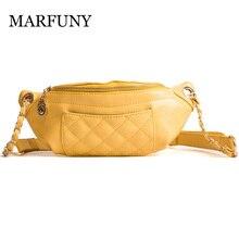 MARFUNY μόδας κυματιστές γραμμές μέσης τσάντα γυναικών μέση Fanny πακέτο τσάντα τσάντα πολυτελείας μάρκα υψηλής ποιότητας δέρμα PU δέρμα γυναικών ταξιδίου τσάντα