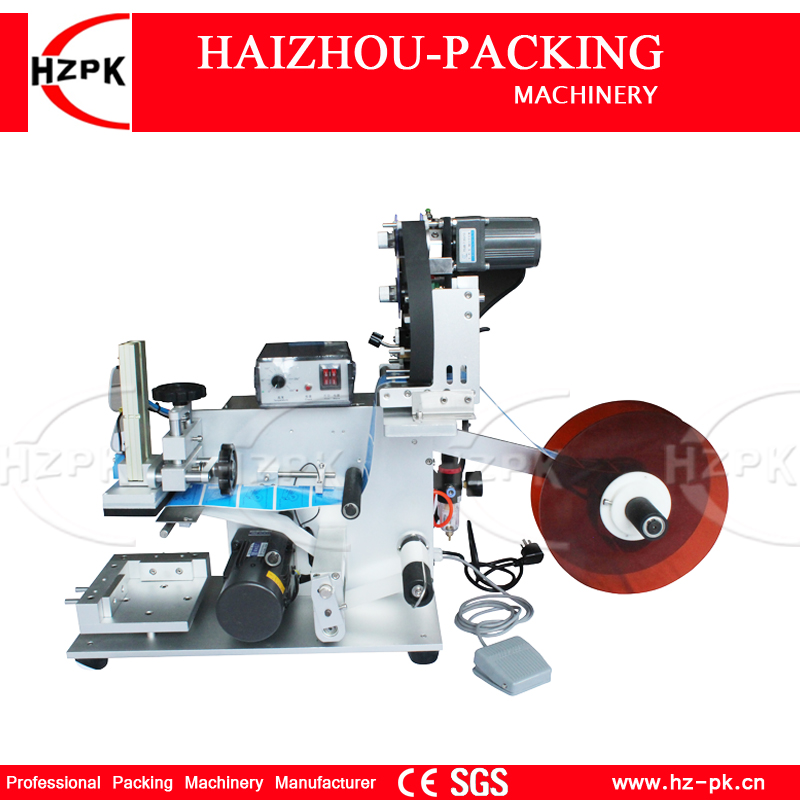все цены на HZPK Semi-automatic Flat Labeling Machine With Label Printer For Square Bottle/Flat Product Labeling Coding Date At Once MT-60C