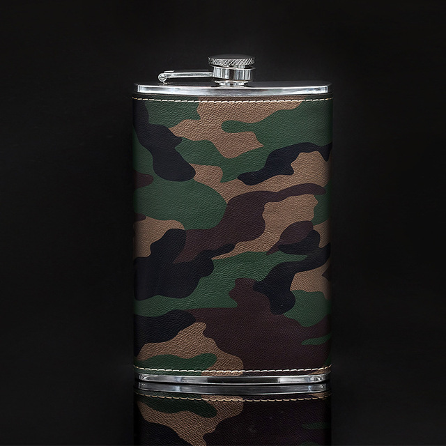 Creative Stainless steel hip flask military Camo wrapping bulk wine skin fashion personality flask hip my bottle mug dolce gusto