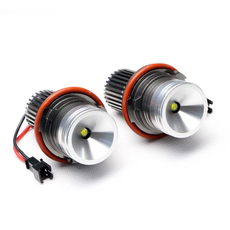 7000K LED White Lights Bulbs 10W cree Chips Angel Eye LED Ring Marker Lights for BMW E39 E60/63/64/53 X5 E87 Error Free