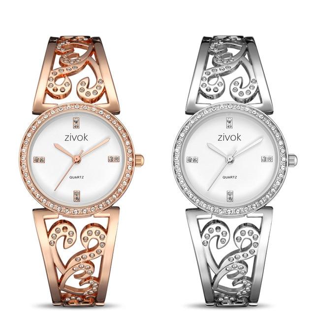 Creative zivok Women Bracelet Watch Fashion Brand Lovers Quartz Wrist Watches Women Clock Relogio Feminino xfcs Reloj Mujer