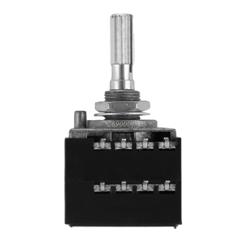 Potentiometer RH2702 8 Pin Serrated Split Shaft 6MM Precision 27-type A100K 100K canada 24 type potentiometer 2 5k