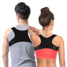 Adjustable Upper Back Shoulder Posture Corrector Men Women Clavicle Support Black