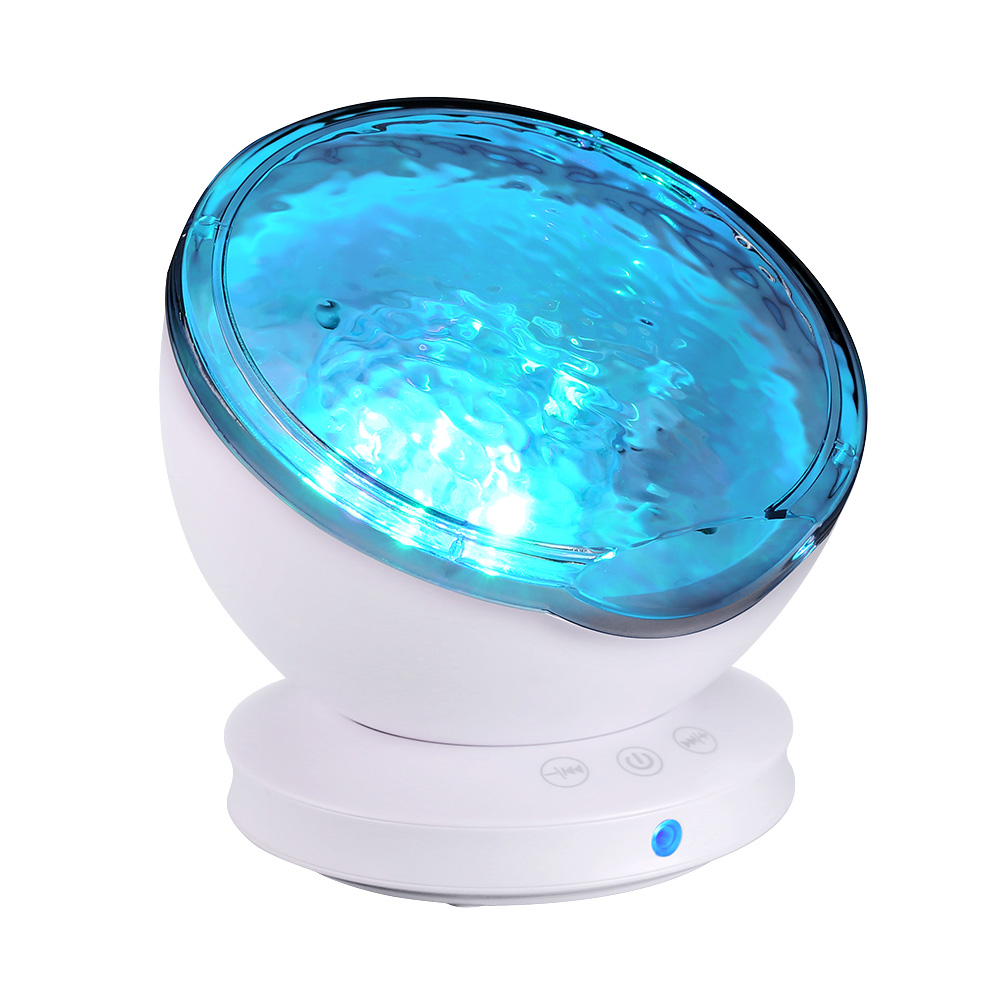 US $16 68 14% OFF 12LED Creative Marine projection Light Ocean Sleep Help  Music Projector Lamp New Year Night Party Decoration Drop Shipping-in