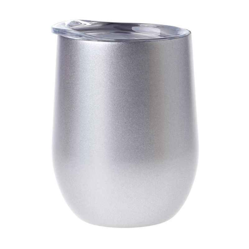 New Stemless Wine Cup Stainless Steel Insulated Egg Shape Beer Drinking Cup Gift