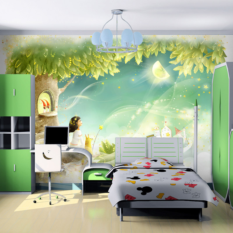 Beibehang custom phu children 39 s room wallpaper mural for Children s mural wallpaper