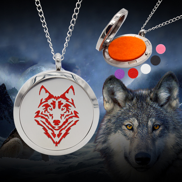 Wolf aromatheraphy essential oil diffuser necklace stainless steel wolf aromatheraphy essential oil diffuser necklace stainless steel perfume locket pendant floating locket aloadofball Gallery