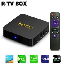 NEUE MX10 TV BOX Android 7.1 smart TV box Rockchip RK3328 Quad-core 4 GB RAM 32 ROM kodi Suppot H.265 UHD 4 Karat 2,4G WiFi Set-top box
