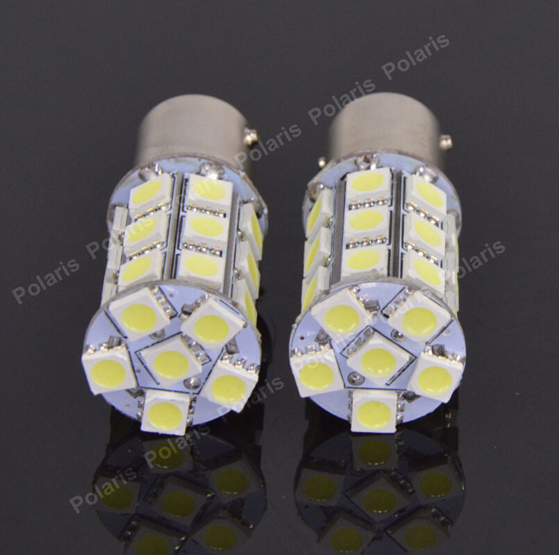 1Pcs High Quality 1157 BAY15D 5050 SMD 27 LED Pure White Car Auto Tail Brake Stop Signal Parking Lights Lamp Bulb DC12V 1 x t25 3157 50w led car auto signal brake stop tail light bulb signal lamp white external lights